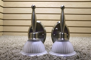 USED SET OF 2 RV SCONCE WALL LIGHT FIXTURES FOR SALE