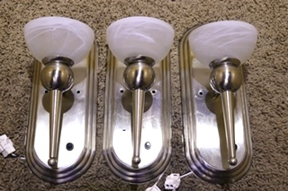 USED SET OF 3 RV INTERIOR WALL LIGHT FIXTURES FOR SALE
