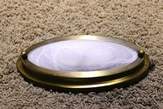 USED OVAL MOTORHOME CEILING LIGHT FIXTURE FOR SALE