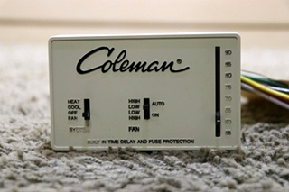 USED INTERIOR 7330-335 COLEMAN WALL THERMOSTAT MOTORHOME PARTS FOR SALE