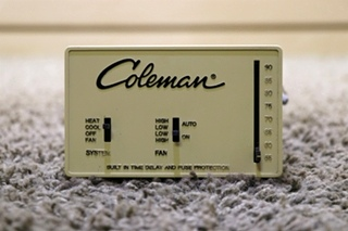 USED COLEMAN 7330-335 RV INTERIOR WALL THERMOSTAT MOTORHOME PARTS FOR SALE