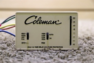 USED COLEMAN MOTORHOME INTERIOR WALL THERMOSTAT RV PARTS FOR SALE