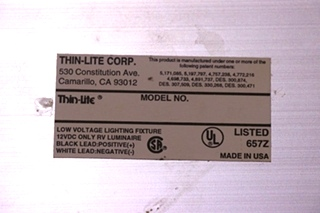 USED THIN-LITE RV CEILING LIGHT FIXTURE MOTORHOME PARTS FOR SALE