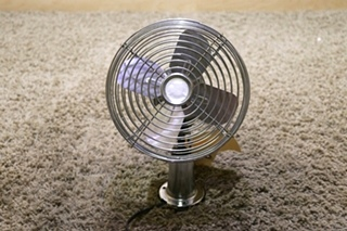 USED MOTORHOME CHROME 12V DASH FAN RV PARTS FOR SALE
