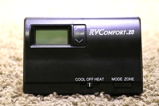 USED BLACK RV RVCOMFORT.ZC AM7801H COLEMAN 8330B331 THERMOSTAT MOTORHOME PARTS FOR SALE