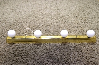 USED 4 BULB RV VANITY LIGHT BAR MOTORHOME PARTS FOR SALE