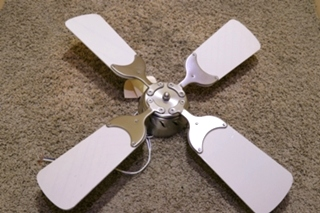 USED RV CREAM AND NICKLE CEILING FAN FOR SALE